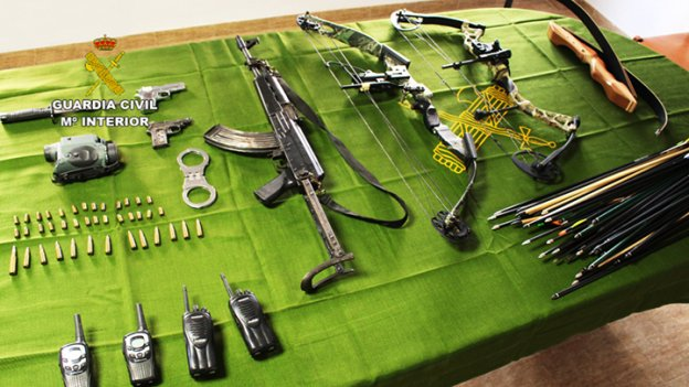 Armas incautadas. / guardia civil