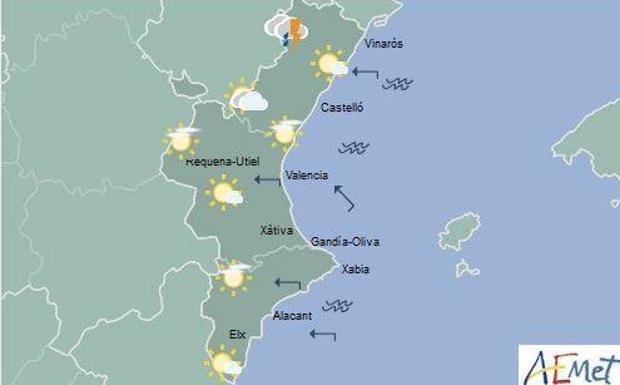 El tiempo en valencia alicante y castell n hoy se esperan tormentas en el interior norte las - El tiempo torreblanca castellon ...