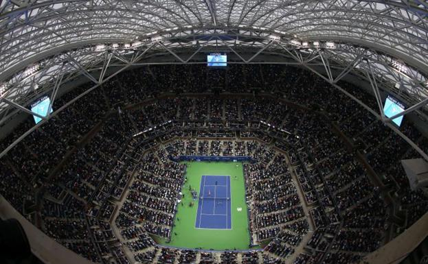 Pista central de Flushing Meadows./AFP