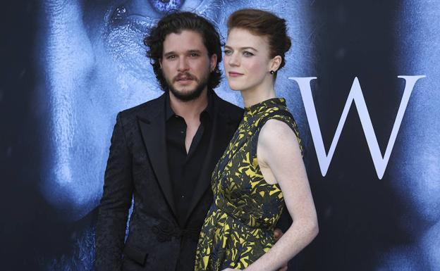 Kit Harington y Rose Leslie./
