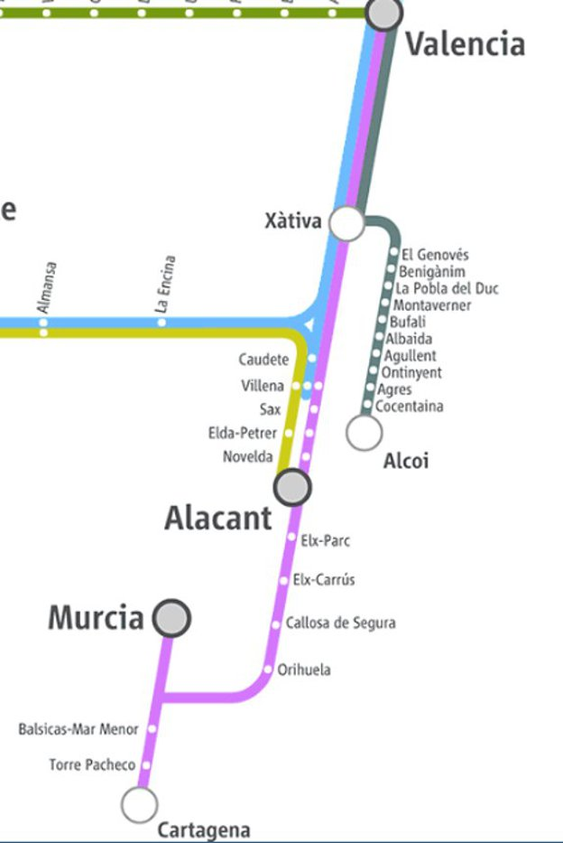 Mapa Renfe Regional Catalunya.Viaja Desde Valencia Con Trenes Regionales De Media