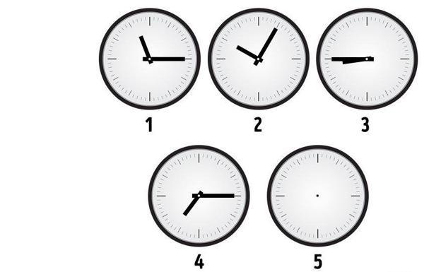 33da96b7b4a4 Qué hora debe mostrar el reloj número 5