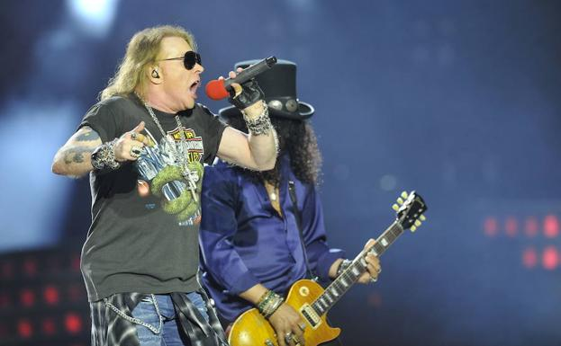 Axl Rose y Slash./Ignacio Pérez