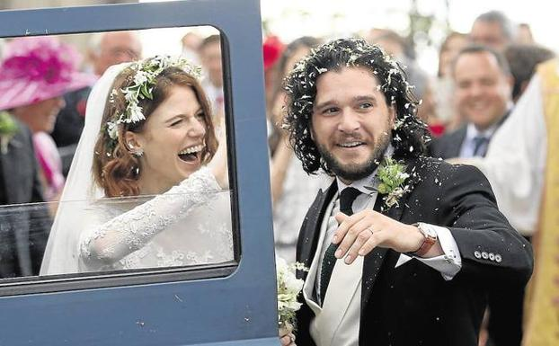 Kit Harington y Rose Leslie Wedding durante su enlace en junio de 2018. /Jane Barlow