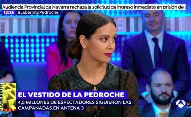 Cristina pedroche se enfada con 39 espejo p blico 39 por las for Antena 3 espejo publico programa hoy