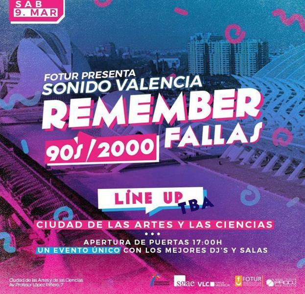 Cartel del festival Remember Fallas.