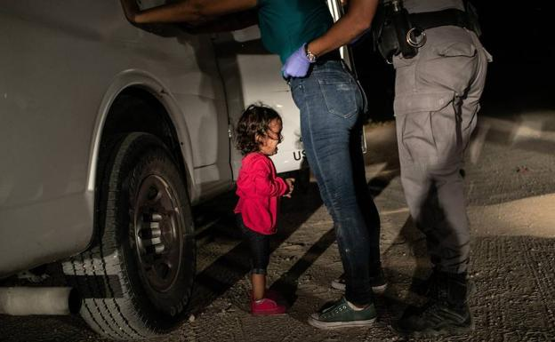 Fotografía tomada por John Moore el 12 de junio de 2018 y que ha ganado el World Press Photo./
