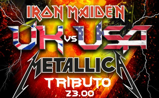 Cartel tributo Iron Maiden y Metallica.