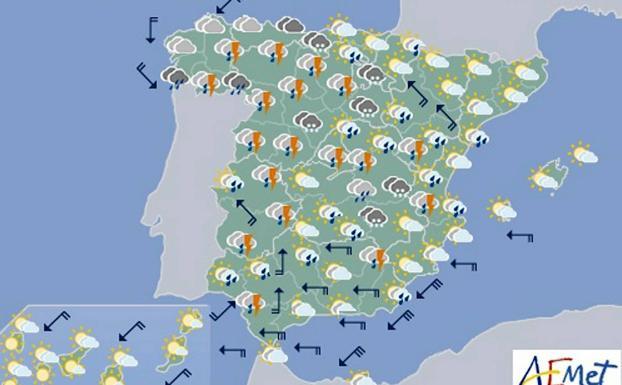 El Tiempo En Espana Aemet Alerta De Precipitaciones Importantes