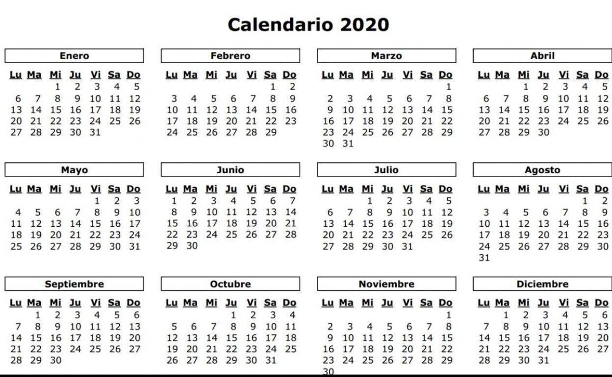 Calendario Laboral 2020 En Valencia Los 14 Festivos Y Puentes Mes A Mes Las Provincias