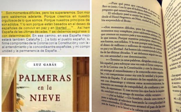 Imagen del bulo sobre el discurso de Felipe VI.