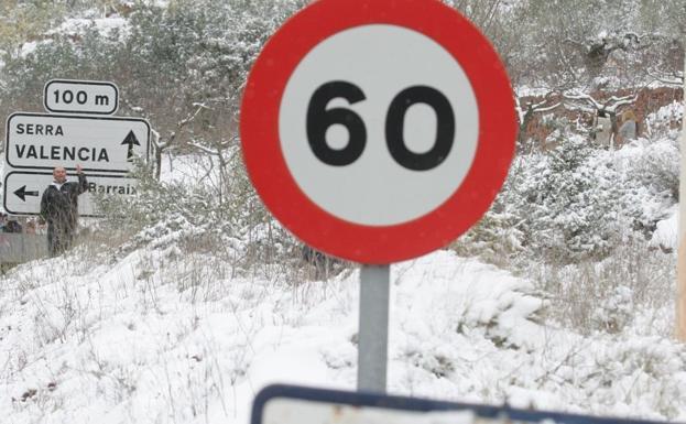 Aemet pronostica nieve en cotas muy bajas de la Comunitat Valenciana