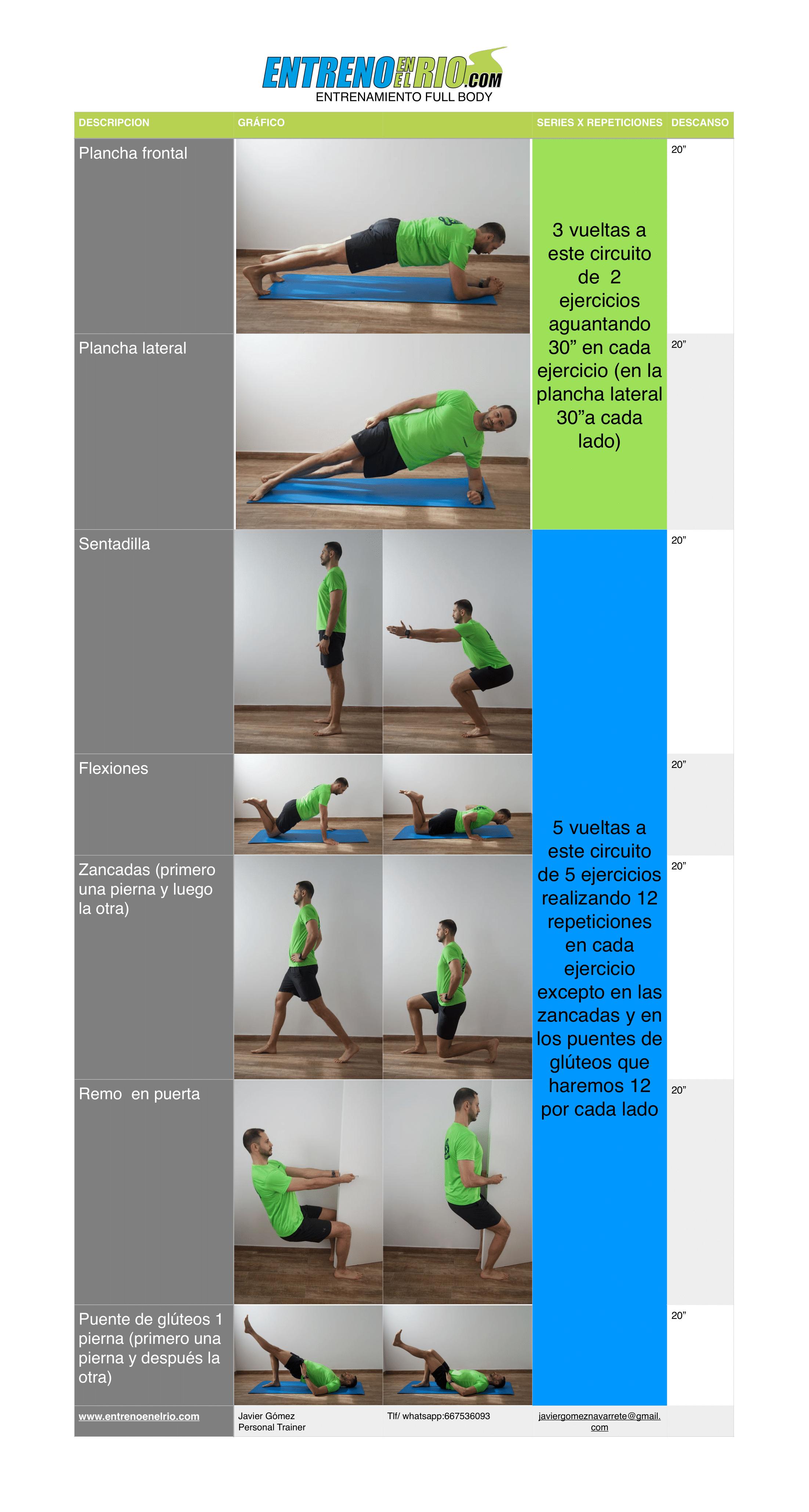 plan de entrenamiento al aire libre