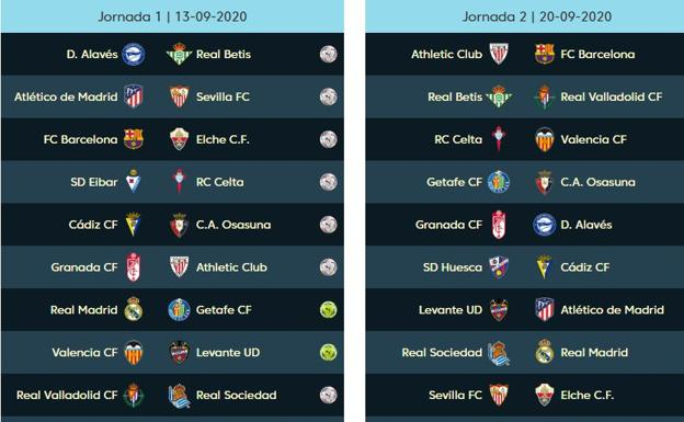 El calendario de la liga 2020 2021, en PDF: partidos de Valencia