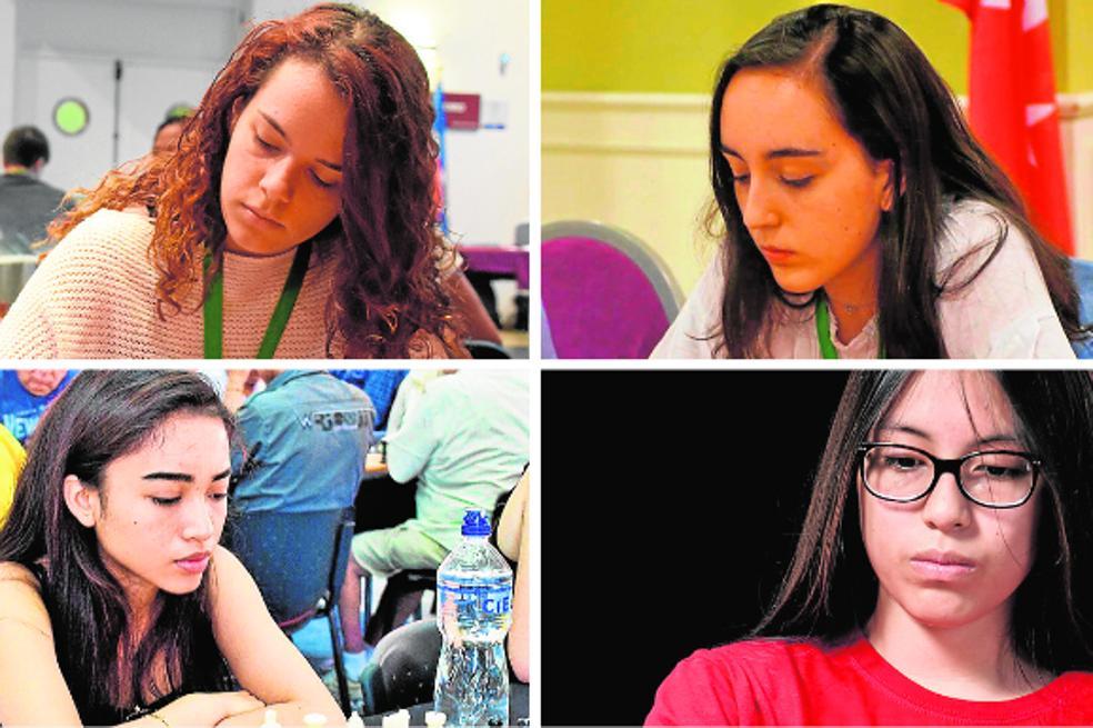 Marta García, Mireya Represa, Adriana Palao y Viviana Galván./LP