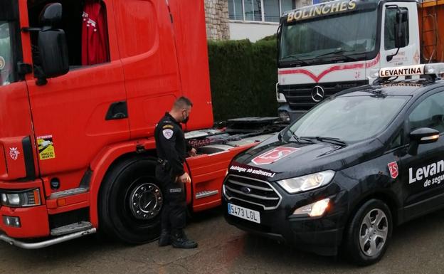 Tres vigilantes frustran un robo de gasoil en un camión en Fuente del Jarro.