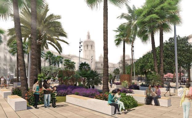 Así será la nueva plaza de la Reina de Valencia